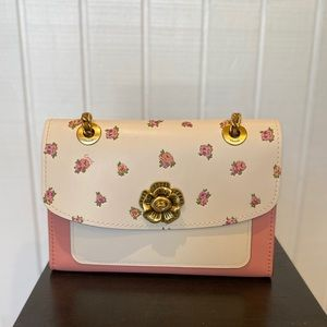 New Coach Parker floral purse